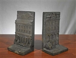 Rare Chase Manhattan Bank Bookends - Cast Iron  - Vintage