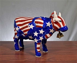 American Flag Bull Coin Bank - Vintage