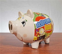 Retirement Fund Piggy Bank - Vintage