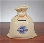 Merrill Lynch Money Bag Coin Bank - Vintage