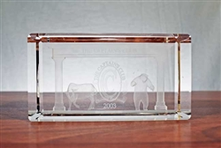 The Captain's Club Bull and Bear Lucite