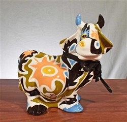 Colorful Bull Coin Bank - Vintage Bank