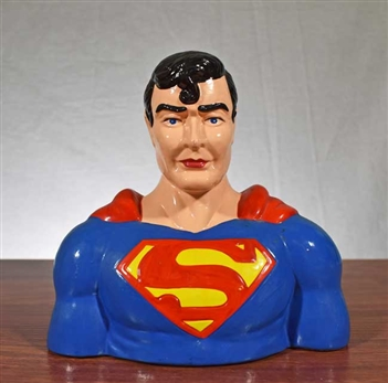 1987 Superman Coin Bank - Vintage Bank
