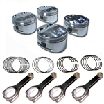 3RZ Forged Piston & H-Beam Rod Set High Compression (12:1) 1995-2004
