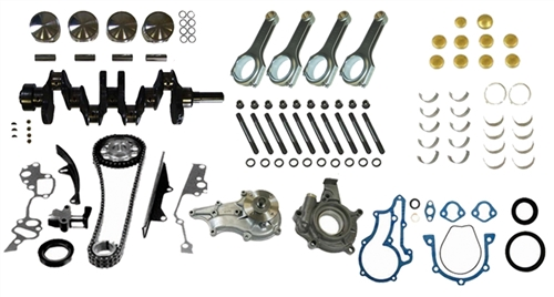 22R/22RE Turbo Street Stroker Short Block Kit W/ H-Beam Rods 1985-1995