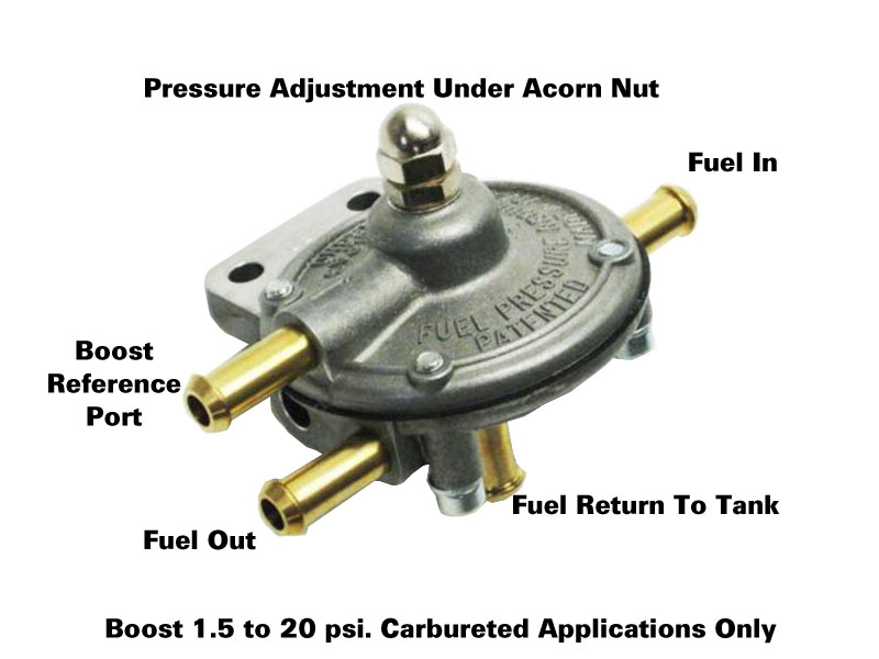 weber fuel pump regulator with boost reference port 1 5 20lbs