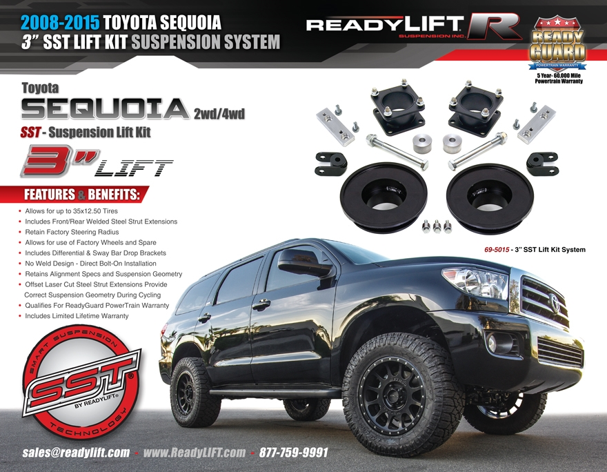Readylift Sequoia 2008 2016 2wd Amp 4wd Sst Lift Kit 3 Quot