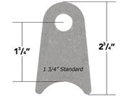 "Weld On Flat Tab Standard 1 3/4"" Cope 10 Pack"