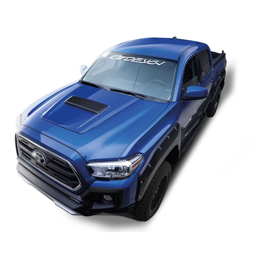 Air Design Full Kit for 2016 & Up Tacoma (Black Applique, With OE Style Hood Scoop)