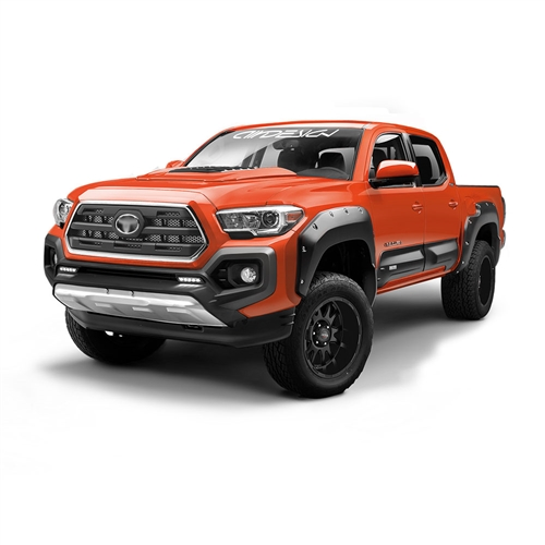 Air Design Full Kit for 2016 & Up Tacoma (Black Applique, With AD Style Hood Scoop)