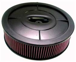 "K&N Air Filter - 14"" x 4"" Air Assembly 2 Bbl - Bla"
