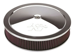 "K&N Air Filter - 11"" x 2"" Air Assembly - Chrome"