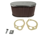 "K&N Air Filter - 3.5"" Sidedraft Element Only 40, 4"
