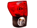 Black/Clear LED Tail Light Set For 2007-2013 Tundra