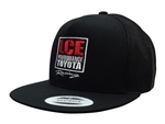 LCE Yupoong Classics Flat Bill Mesh 5-Panel Snapback Hat (Centered Logo)