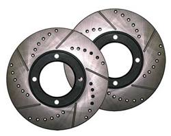Celica (8/85-12/85) GT, ST Cross Drilled and Slotted 4 lug Rotors (Pair)