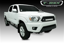 "T-REX Black Formed Mesh TORCH 20"" LED Light Grille Insert For 2012-2015 Tacoma"