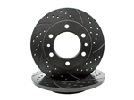 Cross Drilled Slotted Non-Vented Rotors 22R Pickup 8/1980-7/1985 4WD 6 Lug and 4Runner 1984-7/1985