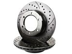 Cross Drilled Slotted Rotors T100 1994-1998 4WD 2.7L 3RZ & 3.4L 5VZ 6 Lug