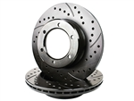 Cross Drilled Slotted Rotor Rear FJ Cruiser, 4Runner & Sequoia