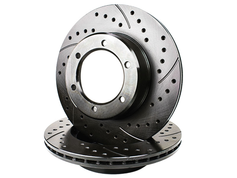 Front Rear Drill /& Slot Brake Rotors And Pads For 4Runner FJ Cruiser 2WD 4WD