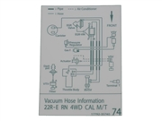 Vacuum Hose Information Decal
