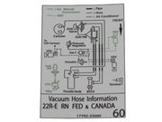 Vacuum Hose Information Decal (Federal & Canada)