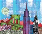 Gregory Attonito - NYC Collage Two Print