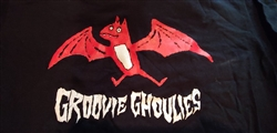 RARE Groovie Ghoulies Red Bat T-shirt SMALL