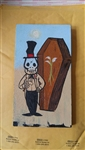 Coffin Maker painting on wood