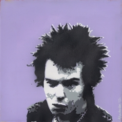 Sid Vicious by Lucy Giles 10x10 Canvas Painting