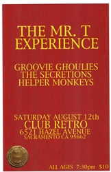 MTX/Groovie Ghoulies at Club Retro Poster