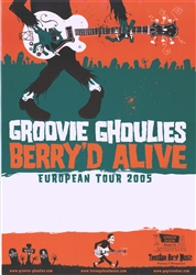 Groovie Ghoulies Berry'd Alive European Tour 2005 Poster