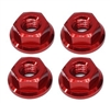 M4 Serrated Flange Nuts (4) - Red