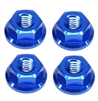 M4 Serrated Flange Nuts (4) - Blue