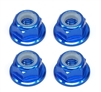M4 Flanged Lock Nuts (4) - Blue