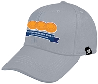 Team Baseball Cap with Covid-19 Saluting the Heroes Logo