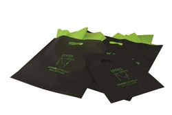Frosted Colored Merchandise Bags