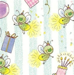 "26"" GW Bug Party Closeout Gift Wrap"