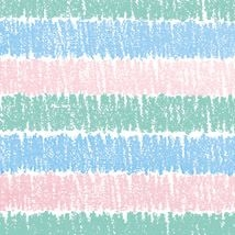 Pastel Crayon Stripes Closeout Gift Wrap