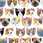 Cat Faces Gift Wrap