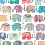 Colorful Elephants Gift Wrap