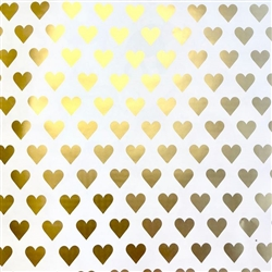 Golden Hearts Wholesale Packaging Gift Wrap