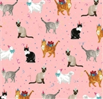 Festive Felines Wholesale Packaging Gift Wrap