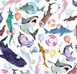 Shark Party Wholesale Packaging Gift Wrap