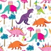 Dino Party Metallic Silver Highlight Wholesale Packaging Gift Wrap