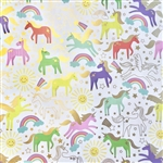 Unicorn Metallic Gold Highlight Wholesale Packaging Gift Wrap