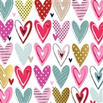 Pretty Hearts Wholesale Packaging Gift Wrap