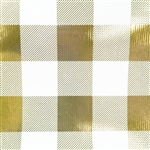 Classy Plaid Gold Foil Wholesale Packaging Gift Wrap