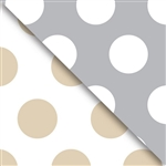 Gold And Silver Dot Reversible Gift Wrap